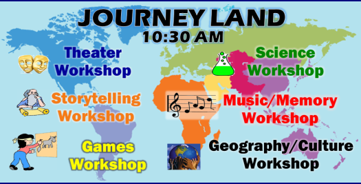 Journey Land - New Children's Bible Classes, Sundays 10:30 AM