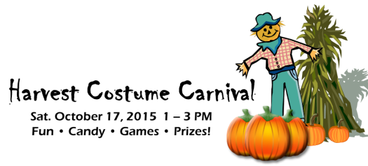 Harvest Costume Carnival, October 17, 2015, 1-3 PM